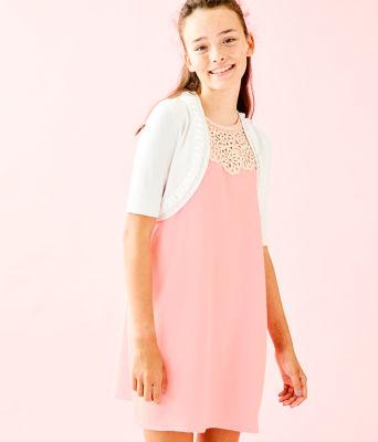 Girls Alexandra Cardigan, Resort White, large 0