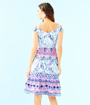 Iva Midi Dress, Resort White Flock Together Engineered Dress, large 1