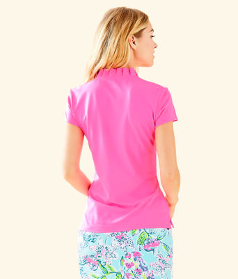 Frida Polo - UPF 50+, Pink Tropics, large