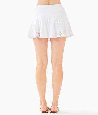 "Luxletic 13"" Coquina Tennis Skort, Resort White Nylon Tennis Monkey Knit Jacquard, large"