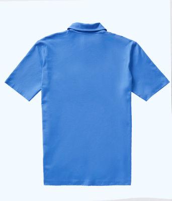 Mens Polo Shirt, Coastal Blue, large