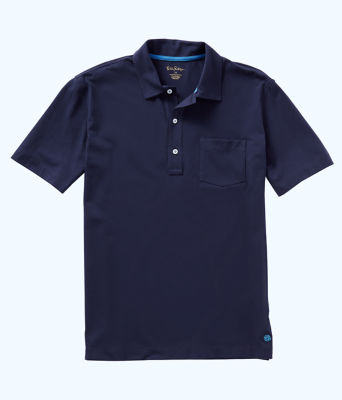Mens Polo Shirt, True Navy, large
