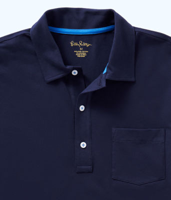 Mens Polo Shirt, True Navy, large 2