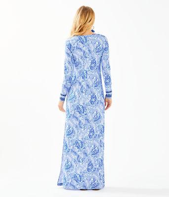 UPF 50+ Faye Maxi Dress, Blue Peri Turtley Awesome Engineered Maxi Dress, large 1