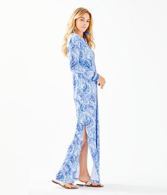 UPF 50+ Faye Maxi Dress, Blue Peri Turtley Awesome Engineered Maxi Dress, large