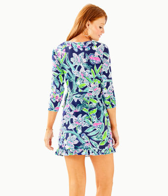 Jessalynne Wrap Romper, Bright Navy Sway This Way, large 1