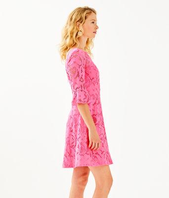 Allyson Lace Dress, Pink Tropics Floral Vines Lace, large 2