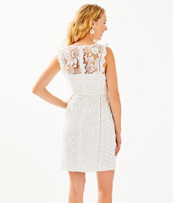 Maya Shift Dress, Resort White Floral Lace, large 1