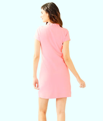 Clary Polo Dress, Coral Reef Tint, large 1