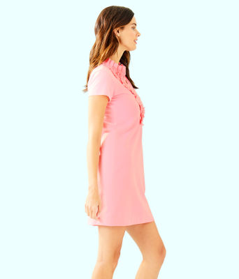 Clary Polo Dress, Coral Reef Tint, large 2