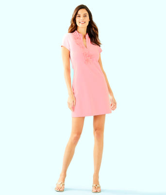 Clary Polo Dress, Coral Reef Tint, large 3