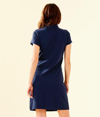 Clary Polo Dress, True Navy, large 1