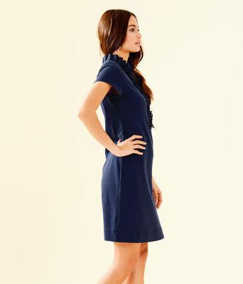 Clary Polo Dress, True Navy, large 2