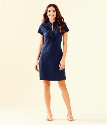 Clary Polo Dress, True Navy, large 3