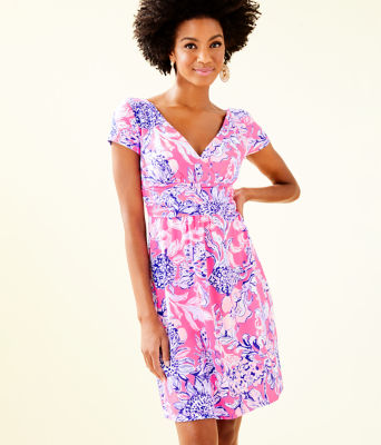 Winslow Dress, Pink Tropics Sun Drenched, large