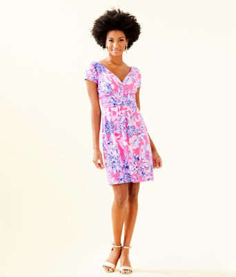 Winslow Dress, Pink Tropics Sun Drenched, large 3