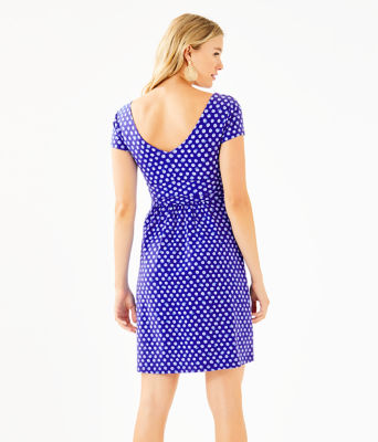 Winslow Dress, Royal Purple Spotted, large 1