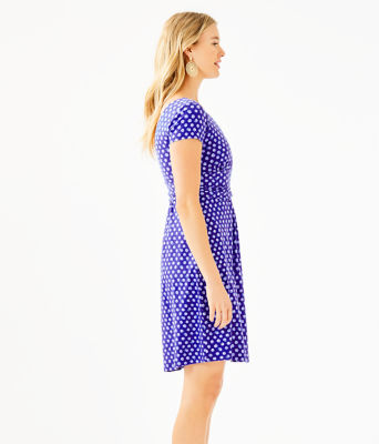 Winslow Dress, Royal Purple Spotted, large 2