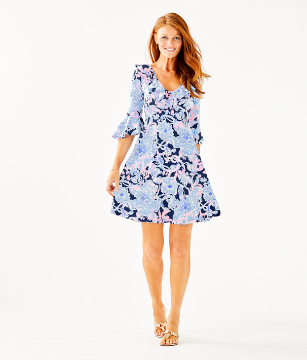 Stirling Dress, Bright Navy Amore Please, large