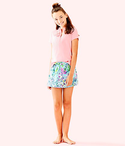 Girls Thierry Polo, Coral Reef Tint, large 2