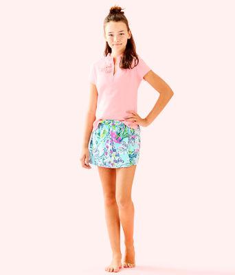 Girls Karla Skort, Bali Blue Sway This Way, large 3
