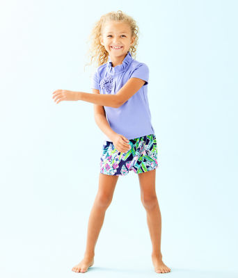 Girls Karla Skort, Bright Navy Sway This Way, large 2