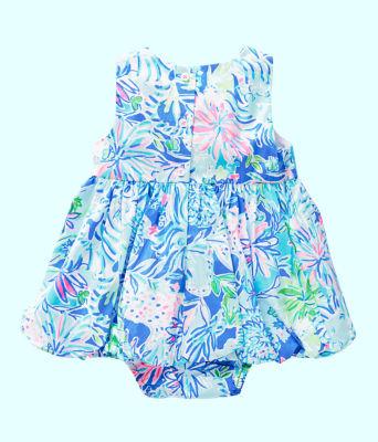 Baby Britta Bubble Dress, Coastal Blue Lion Around, large 1