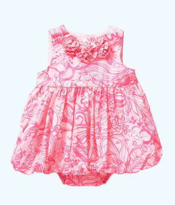 Baby Britta Bubble Dress, Pink Tropics Tint Bunny Hop, large