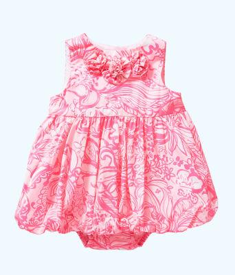 Baby Britta Bubble Dress, Pink Tropics Tint Bunny Hop, large 0