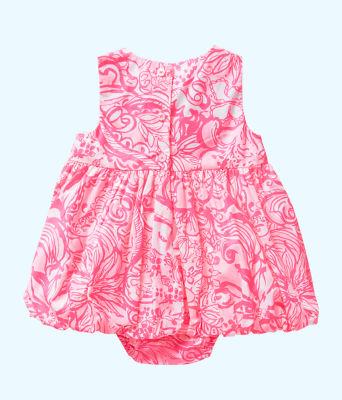 Baby Britta Bubble Dress, Pink Tropics Tint Bunny Hop, large 1