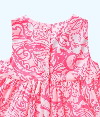 Baby Britta Bubble Dress, Pink Tropics Tint Bunny Hop, large 2