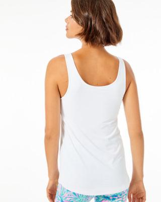 Luxletic Meryl Nylon Sunray Bra Tank, Resort White, large