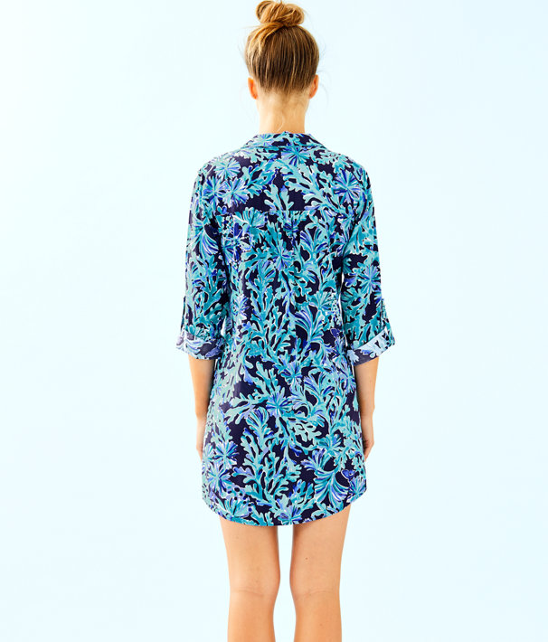 Natalie Shirtdress Cover Up, Bright Navy In Too Deep, large