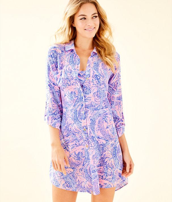 95175bc71a165 ... Natalie Shirtdress Cover-Up