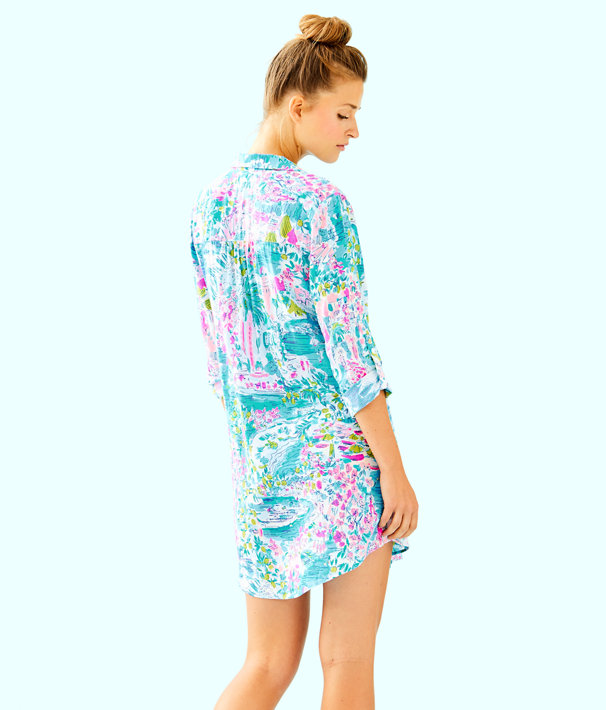 Natalie Shirtdress Cover Up, Multi Postcards From Positano, large