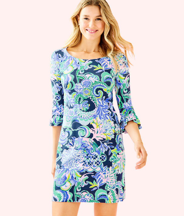 e0ea68e05679fb ... UPF 50+ Sophie Ruffle Dress, Bright Navy Sirens and Spirits, large ...