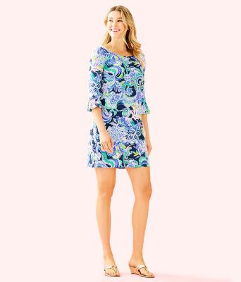 UPF 50+ Sophie Ruffle Dress, Bright Navy Sirens and Spirits, large
