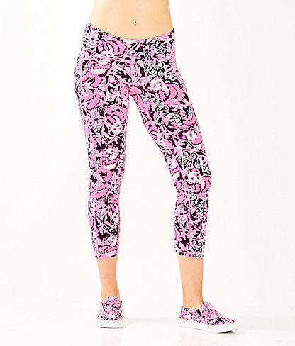 "UPF 50+ Luxletic 24"" Weekender Midi Legging, Hibiscus Pink Hangin With My Boo, large"