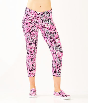 "UPF 50+ Luxletic 24"" Weekender Midi Legging, Hibiscus Pink Hangin With My Boo, large 0"