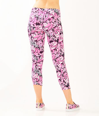 "UPF 50+ Luxletic 24"" Weekender Midi Legging, Hibiscus Pink Hangin With My Boo, large 1"
