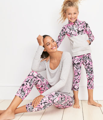 "UPF 50+ Luxletic 24"" Weekender Midi Legging, Hibiscus Pink Hangin With My Boo, large 4"
