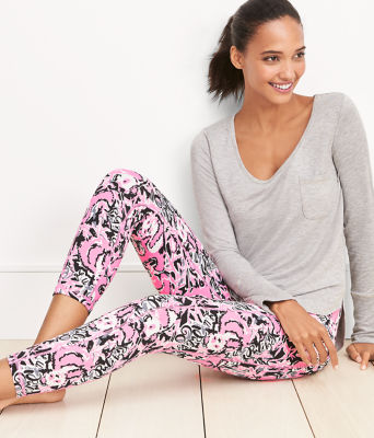 "UPF 50+ Luxletic 24"" Weekender Midi Legging, Hibiscus Pink Hangin With My Boo, large 5"