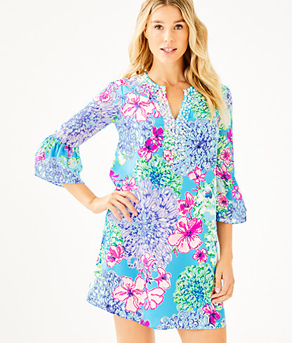 Elenora Silk Dress, Multi Special Delivery, large