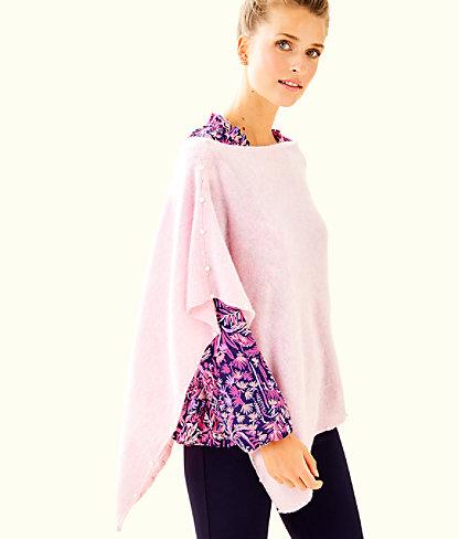 Britta Cashmere Wrap, Heathered Pink Tropics Tint, large