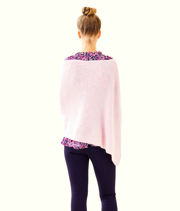Britta Cashmere Wrap, Heathered Pink Tropics Tint, large