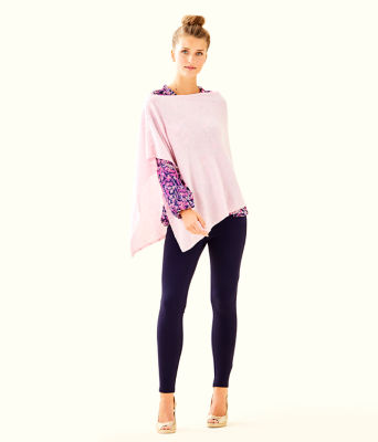 Britta Cashmere Wrap, Heathered Pink Tropics Tint, large 2