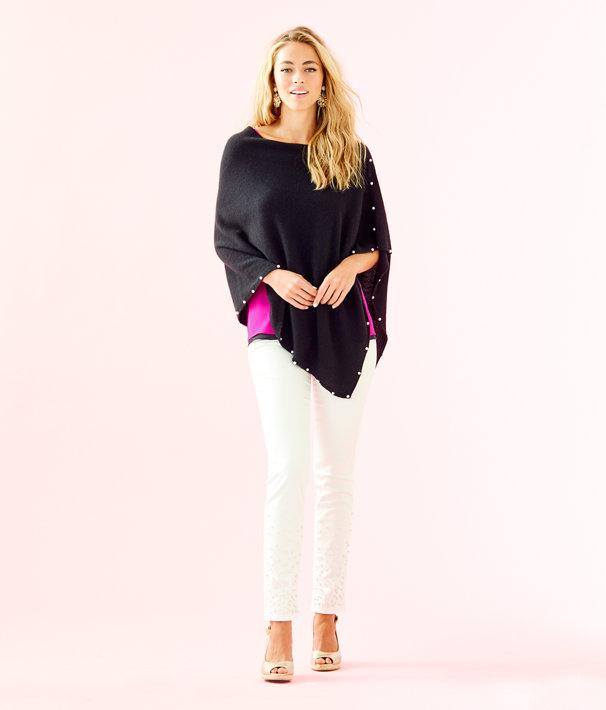 Britta Cashmere Wrap, Onyx, large