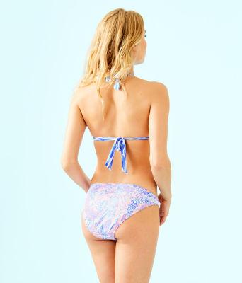 Noa Triangle Bikini Top, Coastal Blue Maybe Gator Engineered Triangle Bikini, large