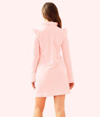 UPF 50+ Skipper Ruffle Dress, Paradise Pink Tint Heather, large 1