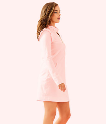 UPF 50+ Skipper Ruffle Dress, Paradise Pink Tint Heather, large 2